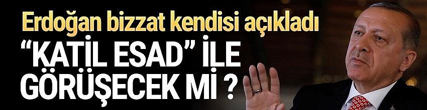 Erdoğan: Onunla görüşmeye niyetim yok