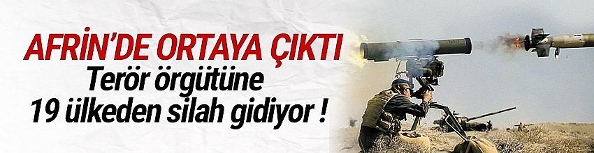 Terör örgütü YPG'ye 19 ülkeden silah gidiyor !