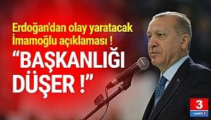 Erdoğan: ''İmamoğlu'nun başkanlığı düşer''
