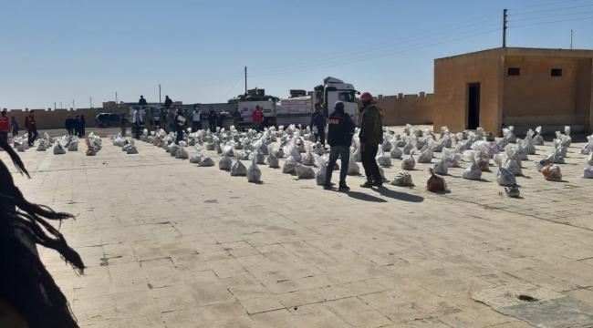Suriyeli yüzlerce aileye yardım yapıldı
