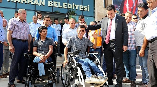 Harran'da engellilerin yüzü güldü.