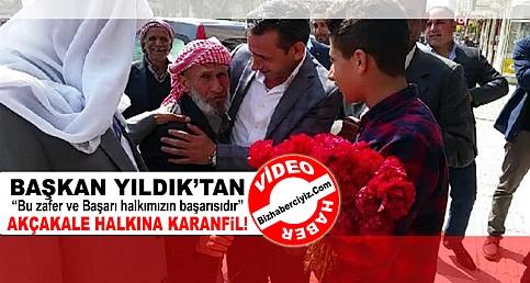 BAŞKAN YILDIK'TAN AKÇAKALE HALKINA KARANFİL!